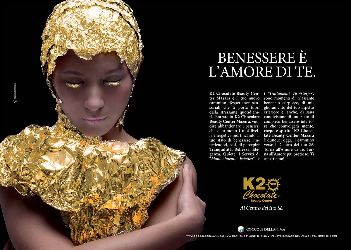 K2 Chocolate Beauty Center Mazara: Annuncio stampa - Doppia pagina